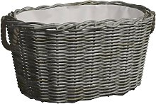 Firewood Basket with Carrying Handles 60x40x28 cm