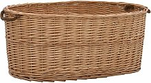 Firewood Basket with Carrying Handles 78x54x34 cm