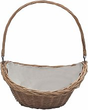 Firewood Basket with Handle 57x46.5x52 cm Brown