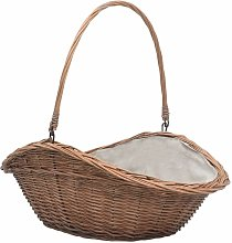 Firewood Basket with Handle 60x44x55 cm Natural