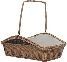 Firewood Basket with Handle 61.5x46.5x58 cm Brown