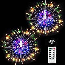 Firework Fairy Light, Loowoko 120 LED 8 Modes