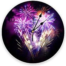 Fireworks PVC Wall Clock, Silent Non-Ticking