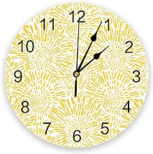 Fireworks Scattering Yellow 3D Wall Clock Modern