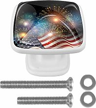 Fireworks with American Flag Drawer Knob for Home