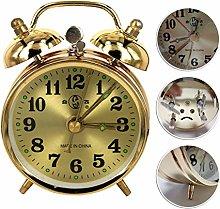 FIRMLEILEI Gold Mechanical Alarm Clock Manual Wind