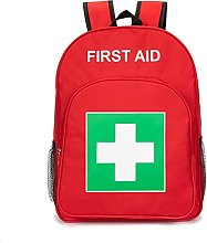 First Aid Backpack Empty Emergency Red First Aid