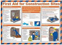 FIRST AID FOR CONSTRUCTION SITES POSTER LAMINATED