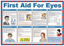 FIRST AID FOR EYES SAFETY POSTER LAMINATED (590 X