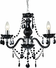 First Choice Lighting - Black and Chrome Marie