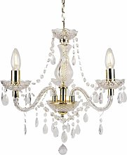 First Choice Lighting - Clear and Gold Marie