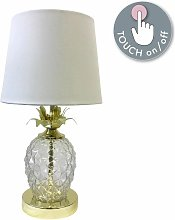 First Choice Lighting - Gold Pineapple Touch Lamp