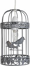 First Choice Lighting - Grey Birdcage Easy Fit