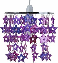 First Choice Lighting - Pink and Purple Sparkly