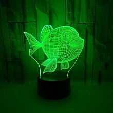 Fish 3D Small Table Lamp Gift Atmosphere Color