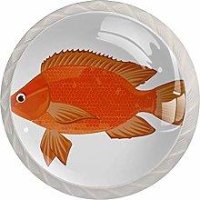 Fish Orange White Drawer Handles Furniture Glass