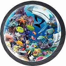 Fish Underwater World Cabinet Door Knobs Handles
