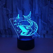 Fishing 3D Night Light Carp Color Led 3D Stereo
