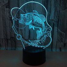 Fishing Carp 3D Table Lamp Colors 3D Led Desk