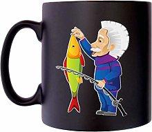 Fishing Einstein Old Man Angling Fisherman Klassek