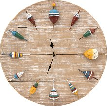 Fishing Floats Wall Clock