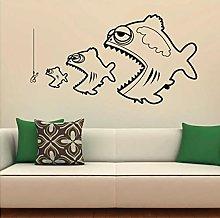 Fishing Wall Decal Cartoon Fish Funny Sea Ocean