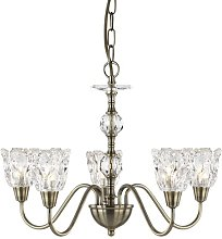 Fiske 5-Light Shaded Chandelier ClassicLiving