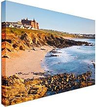 Fistral Beach Newquay Cornwall UK Canvas Art Cheap