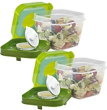 Fit & Fresh Salad Shaker Reusable Plastic