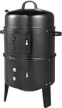 Fit4home Barrel Outdoor Charcoal BBQ Grill 3 in 1