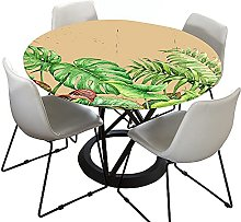 Fitted Round Tablecloth for Circular Table, Morbuy
