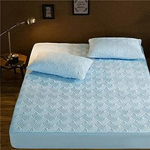 Fitted Sheets Solid Thicken Mattress Cover King