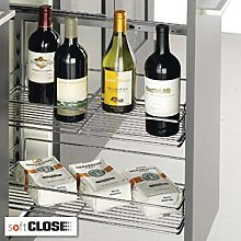 FITTINGSCO Soft Close Pull Out Bottle Rack &
