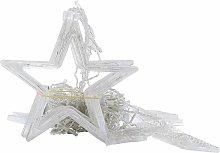Five-branch star curtain light yellow light (hot
