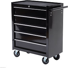 Five-Drawer Tool Storage Cabinet Trolley Rolling
