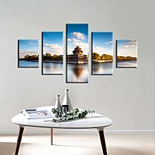 Five Pictures Living Room Bedroom Decoration