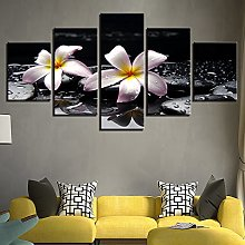 Five-Piece Personality Floral Fun Canvas Print Oil