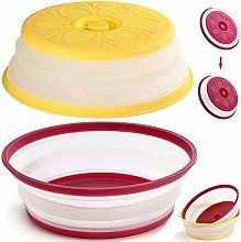Fiyuer 2PCS Collapsible Microwave Plate Cover