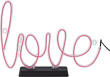Fizz Creations Neon Love Light
