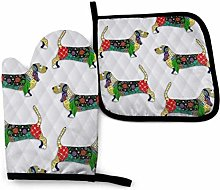 FJAR8 Oven Gloves and Pot Holder 2 Pieces Set Day