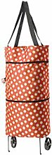 FJX Shopping Bag with Wheels Reusable Grocery Bags