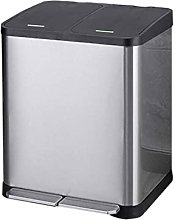 FJYDBTWJ Garbage Can,30 L Recycle Bin Stainless