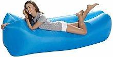 FKB Home Blue Inflatable Sofa Bag Portable Lazy