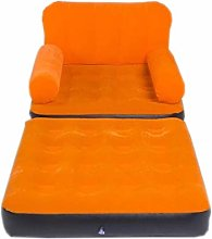 FKB Home Suede Inflatable Sofa Single Lazy Couch