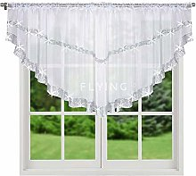 FKL Top Ready-Made Voile Curtain with Satin Ribbon