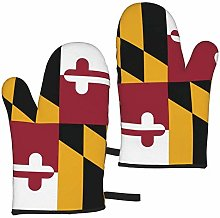 Flag of Maryland Oven Mitts,Glove Fashion