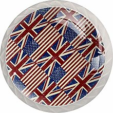 Flags of The United Kingdom Drawer knobs Kitchen