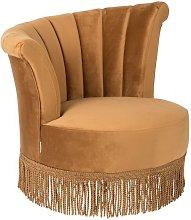 Flair armchair golden brown