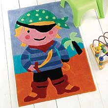 Flair Rugs Kiddy Play Pirate Childrens Rug, Multi,