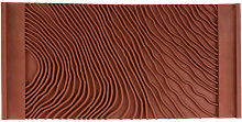 Flaky brown wood grain, painted wall imitation